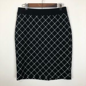 The limited black and white work pencil skirt 6